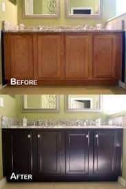 How To Transform Kitchen Cabinets How To Stain Oak Cabinets The Simple Method No Sanding