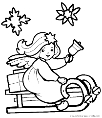angel color pages christmas angel on a sleigh color page christmas coloring pages