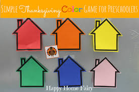 simple thanksgiving simple thanksgiving color game for preschoolers happy home fairy