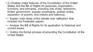 3 analyze major features of the constitution of the united