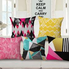 pink and black geometric pillows for gray couch home goods throw