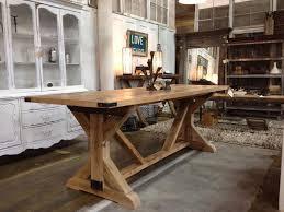 trestle table kitchen island reclaimed farmhouse table ideas
