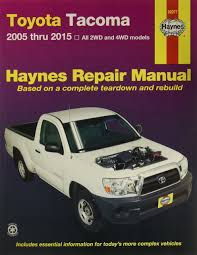 haynes toyota tacoma 2005 thru 2009 repair manual 92077