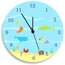 kids wall clock under the sea nursery wall decor wall clock kits