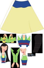 princesas em 3d montar 3d papercraft dolls