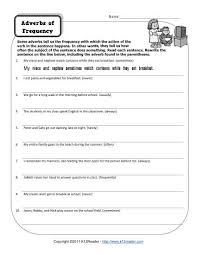 adverbs of frequency adverbs worksheets and sentences