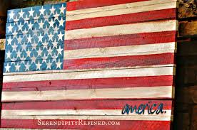 Wooden Nautical Flags Serendipity Refined Blog Pallet Wood Fence Board American Flag Diy