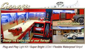 Workbench Lighting Biltek 16 4 U0027 Ft Blue Work Bench Tool Box Led Strip Lighting