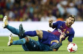 Lionel Messi Leg Madrid Defeat Neymar Less Barcelona In Cup