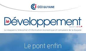 numero de chambre de commerce nouveau numéro du magazine le développement la cci guyane