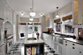 tin backsplash ideas kitchen farmhouse with oven hanging pots