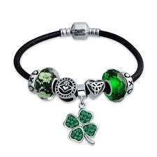bracelet charms images 925 silver green clover irish celtic charm bracelet fits pandora jpg