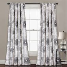 White Contemporary Curtains Modern Curtains Drapes Allmodern