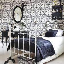 Damask Bedroom Single Bed Image Housetohomecouk Damask Bathroom - Damask bedroom ideas