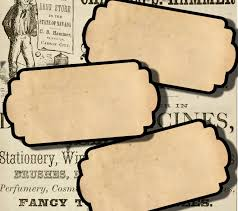 digital collage sheet blank apothecary labels large antique