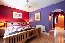 bedroom design rich hues create a analogous scheme