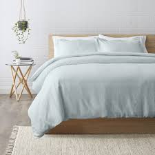 White Linen Duvet Grey Linen Bedding Queen Duvet Set Grey Linen Quilt Cover Single