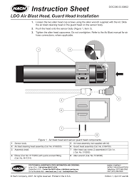 hach lange ldo air blast head guard head installation user manual