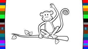 monkey coloring page animal coloring pages for kids youtube