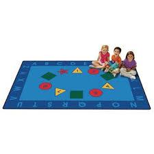 kid value classroom rugs alphabet becker s