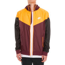 nike windbreaker nike sportswear windrunner men u0027s jacket maroon burgundy black yellow
