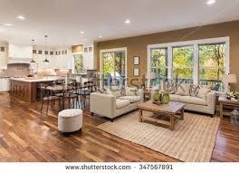 interior of luxury homes beautiful living room interior hardwood floors stock photo