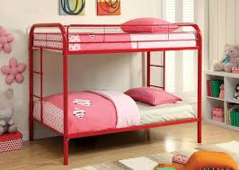 TWINTWIN METAL BUNK BED RED - Simmons bunk bed mattress