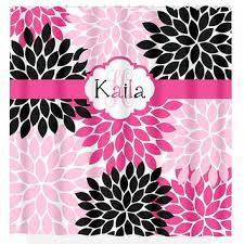 Pink Black And White Shower Curtain Best Flower Burst Shower Curtain Products On Wanelo
