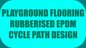 playground flooring rubberised epdm cycle path design youtube