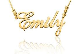 Customized Name Necklaces 24k Gold Plated Customized Name Necklace