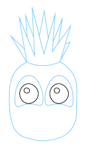 how to draw a pineapple fruit kids easy step by step drawing