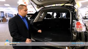 nissan rogue boot space 2015 nissan rogue trunk features youtube
