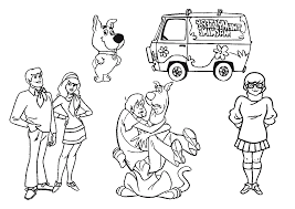 all characters in scooby doo coloring page animal pages of