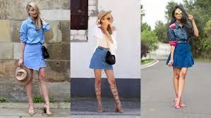 denim skirts 15 ways to wear a denim skirt