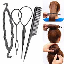 bun accessories hair braid tool twist styling clip stick bun maker comb diy