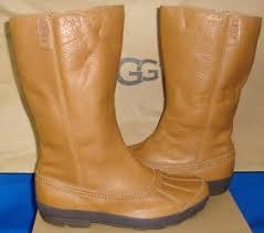 ugg s belfair boots ugg 1012170 belfair waterproof duck boots chestnut brown leather