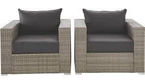 Asda Direct Armchairs Borneo Pair Of Armchairs Grey And Charcoal Home U0026 Garden