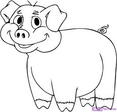 coloring attractive pig cartoon drawing maxresdefault
