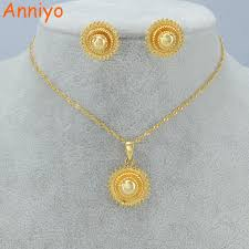 gold set in pakistan anniyo small set jewelry women girl gold color pakistan