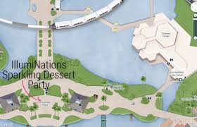 Map Of Epcot Illuminations Sparkling Dessert Party Rolling With The Magic