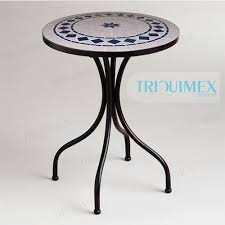 Tile Bistro Table Round Ceramic Tile Top Patio Bistro Table