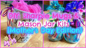 Cute Homemade Mothers Day Gifts by Diy Sharpie Mugs U0026 Mason Jar Gifts Budget Friendly Mother U0027s Day