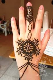 henna tattoo on the back of hand