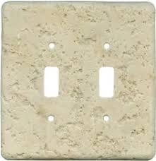 travertine light switch plates oak leaf double metal outlet cover with single rocker oak leaves