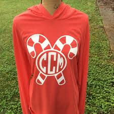 christmas shirts candy monogrammed lightweight hoodie unisex sizes
