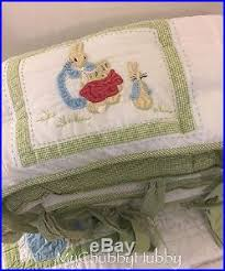Peter Rabbit Pottery Barn Euc Pottery Barn Kids 5pc Beatrix Potter Crib Quilt Bumper Sheet