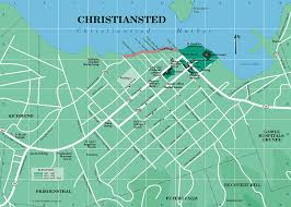 map of vi christiansted map st croix u s islands