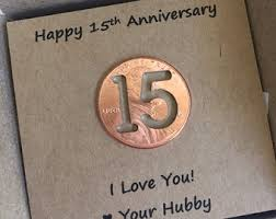 15 year anniversary gift for husband 15th anniversary etsy
