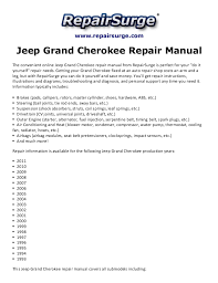jeep repair manual jeep grand repair manual 1993 2011