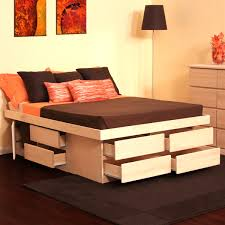 bedroom natural platform twin xl wood frame with headboard in